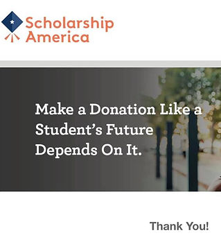 scholarship america donation confirmatio