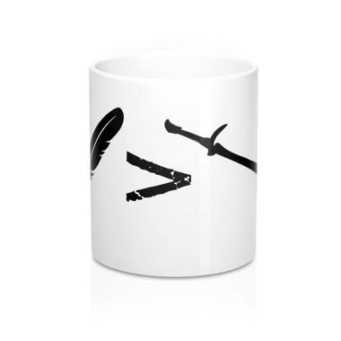 Pen is Mightier than the Sword Mug