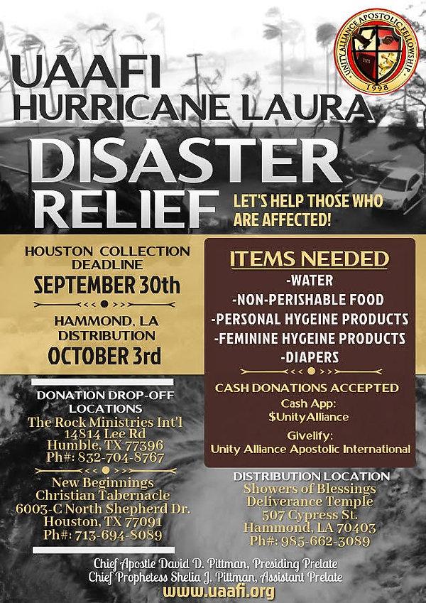 UAAFI Hurricane Disaster Relief Flyer.jp