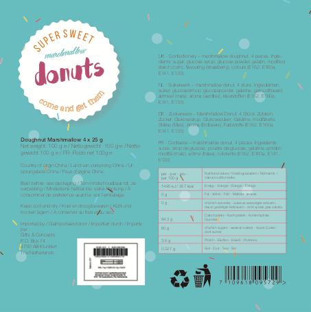 Donutdoos achterkant