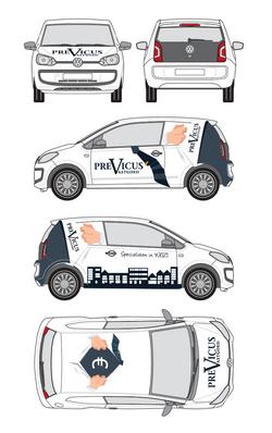 Previcus voorstel belettering auto