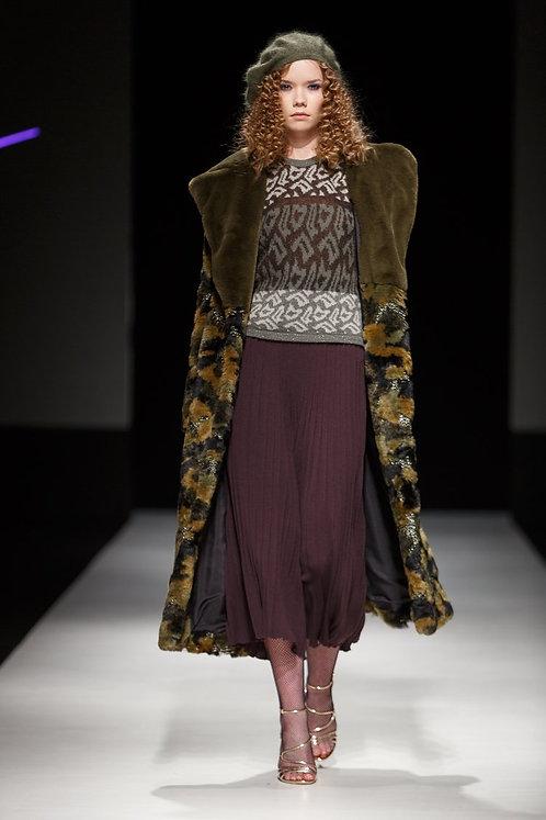 fur coat GREEN CHIC