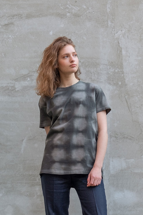 one of a kind t-shirt TIE DYE CHECKERS