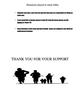 Shoebox For Soldiers Flyer