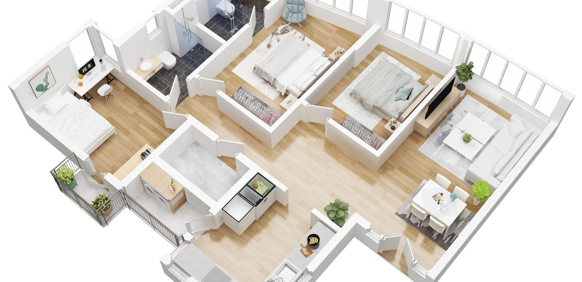 3D Floor plan 2 bed room.jpg