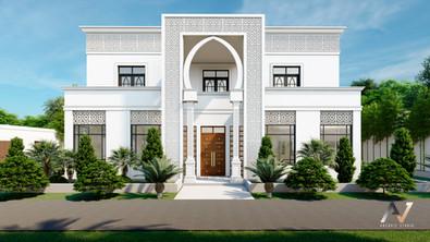 villa exterior rendering archvizstudio v