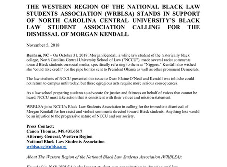 WRBLSA in Support of the Dismissal of Morgan Kendall