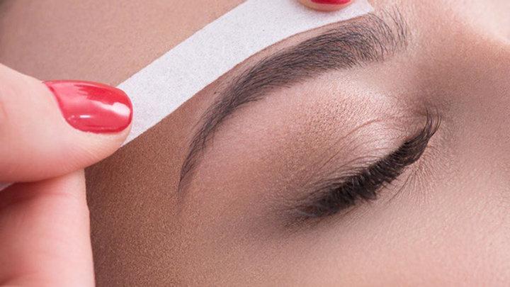Eyebrow wax and tint