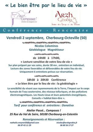 """Conférence - Rencontre """"Le Bien-Être par le lieu de vie"""", le 2 septembre"""