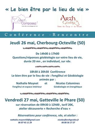 """""""Le Bien Être par le Lieu de Vie"""" Conférence -Discussion le jeudi 26 mai"""