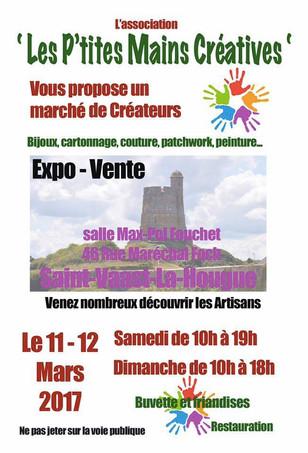 Marché de créateurs: 11 et 12 mars à St-Vaast-la-Hougue