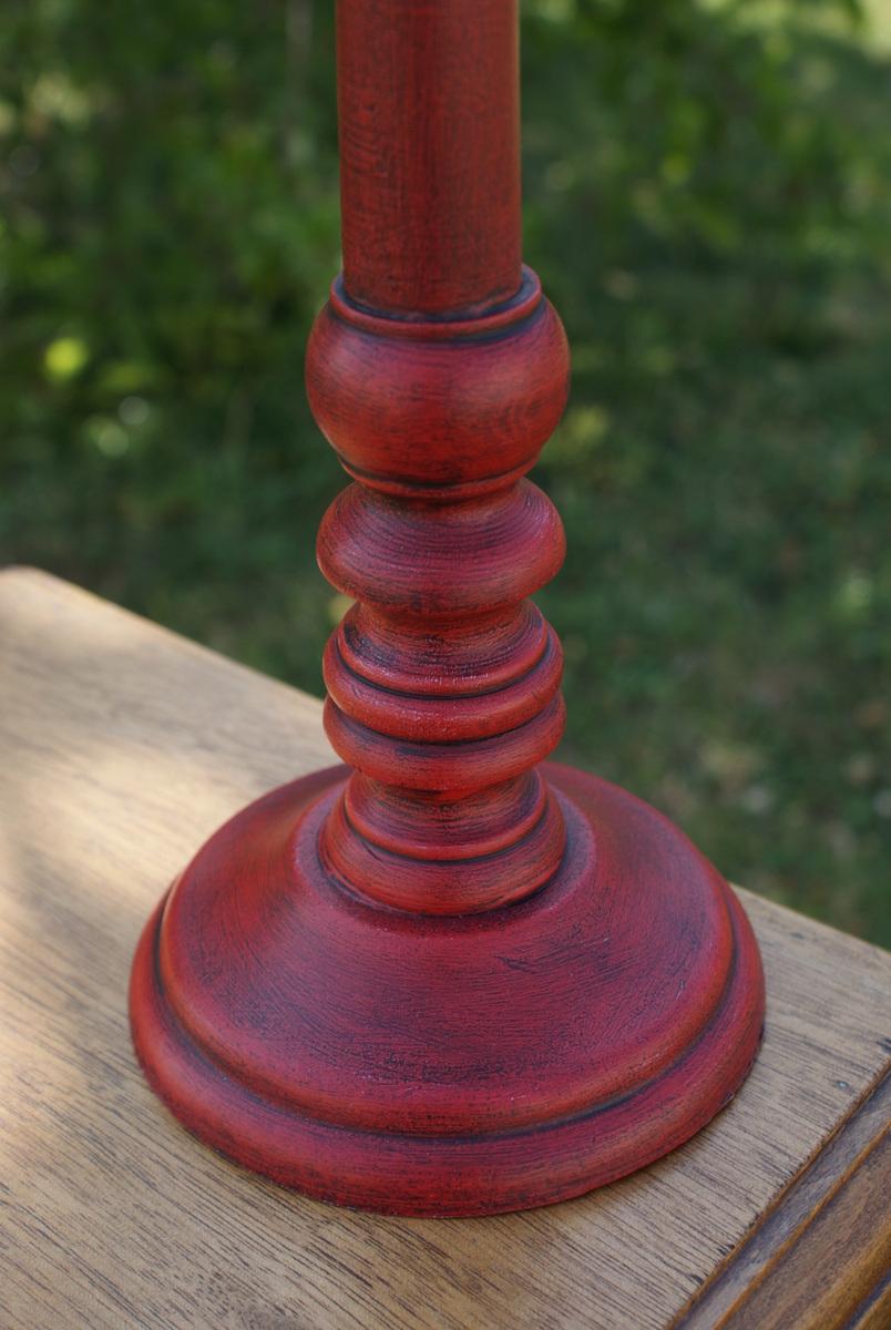 Lampe Rouge Patine Noire