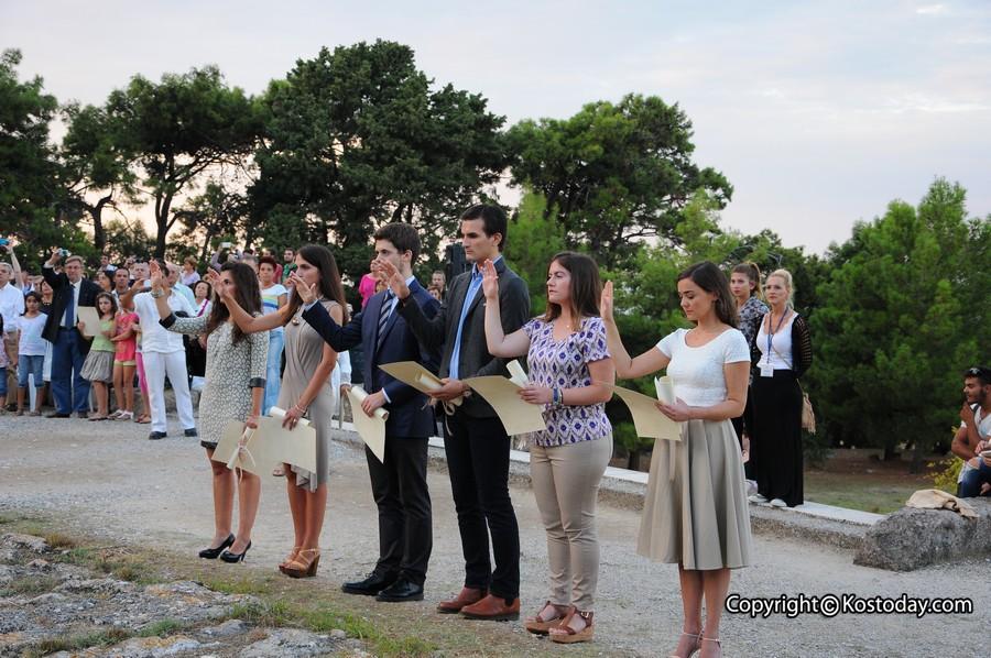 Medical graduates reciting the Oath