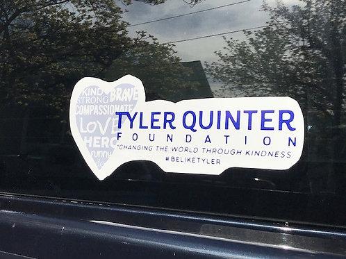 Tyler Quinter Foundaton Window Sticker