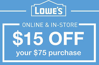 Image of Lowe's $15 off $75 purchase in store or online