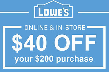Image of Lowe's $40 off $200 purchase in store or online