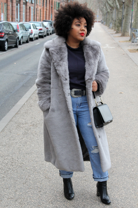 Grey & Faux Fur