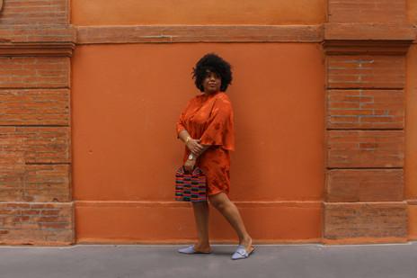 Orange et coloré pour l'été