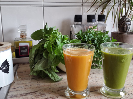 Je lève mon verre... d'eau et de jus de légume à votre santé!