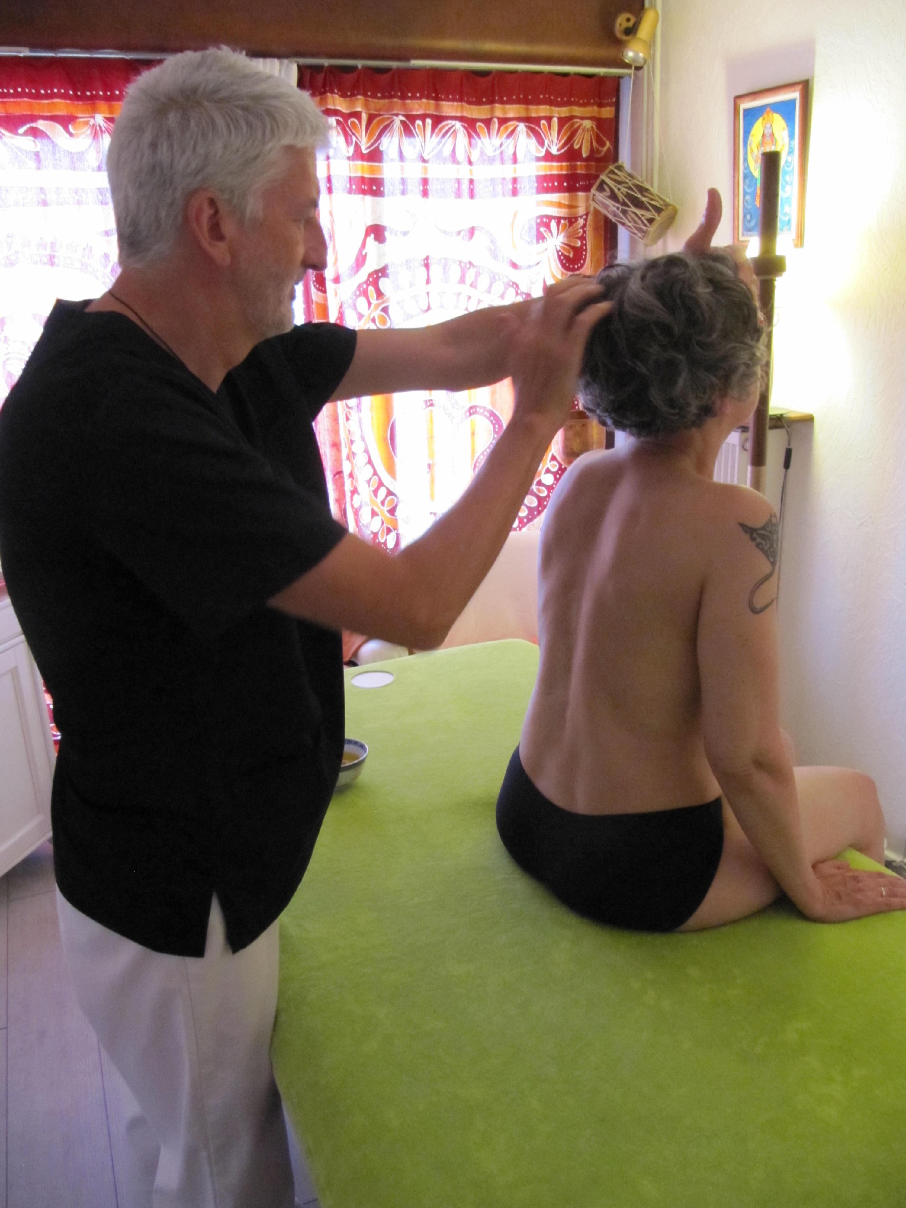 "Massage dos&tête ""Kati Shiro"""
