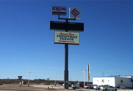 Truck Stop Sign Install