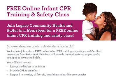 LSJ Infant CPR Class Digital Flyer ENGSP