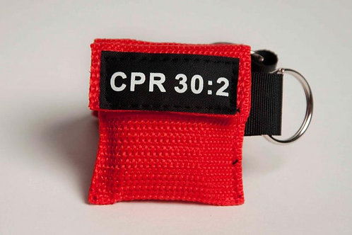 CPR Keychain Mask RED