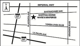 Map for White's Draperies store