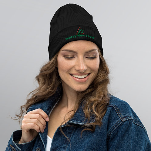 Merry New Year! Organic ribbed beanie