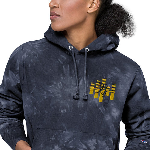 LG Custom Designz Unisex Champion tie-dye hoodie