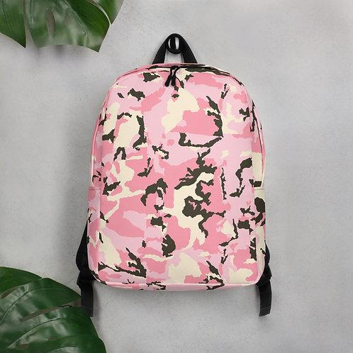 Pink Camo Minimalist Backpack
