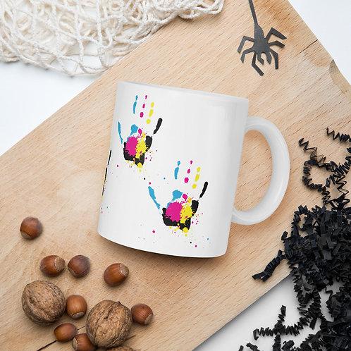 colorful hand Mug