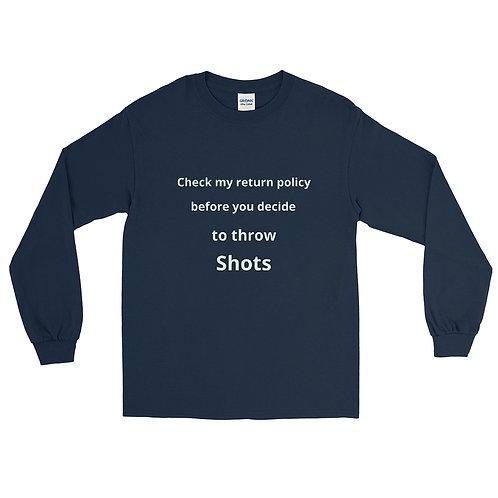 Throw shots Men's Long Sleeve Shirt