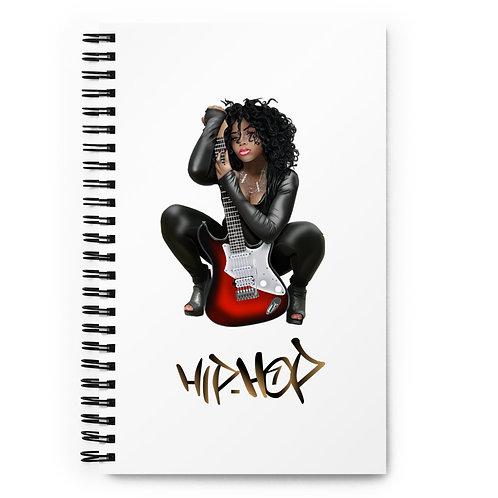 Hip Hop Rock Spiral notebook