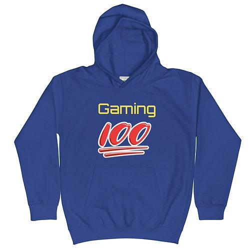 Gaming 100 kids hoodie