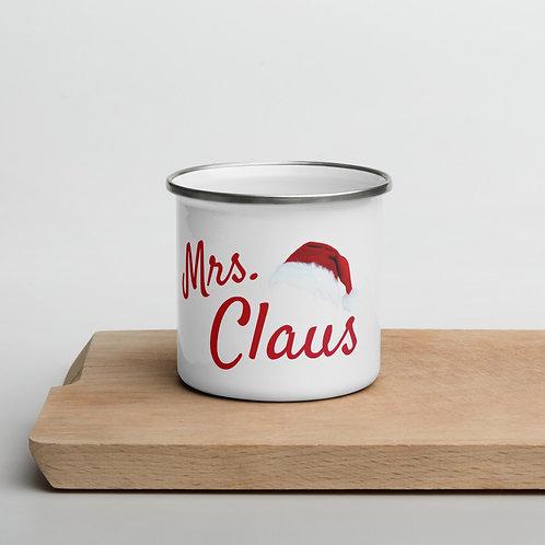 Mrs. Claus Enamel Mug