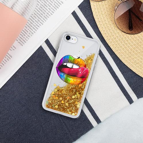 PRIDE LIPS Liquid Glitter Phone Case