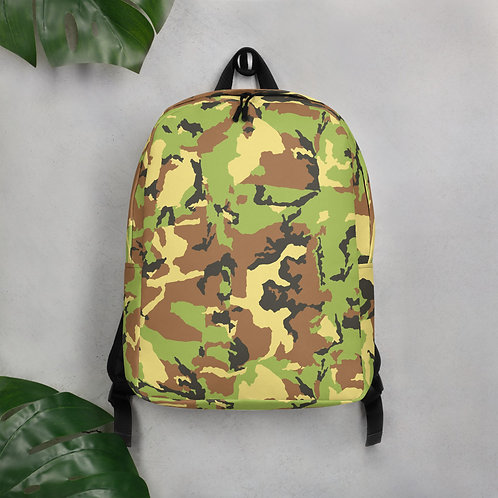 Green Camo Minimalist Backpack