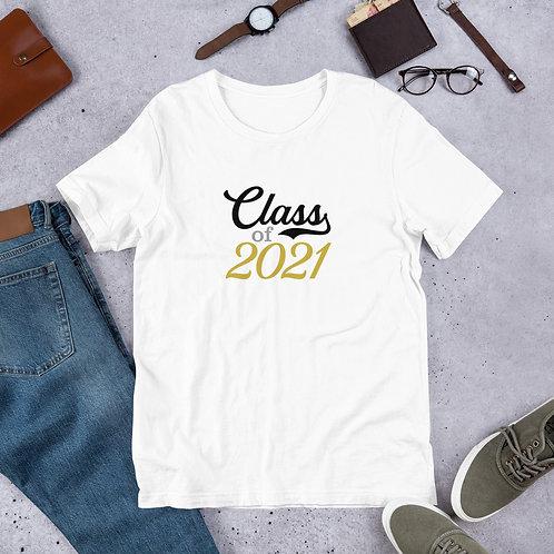 Script Class of  2021 Script Short-Sleeve Unisex T-Shirt
