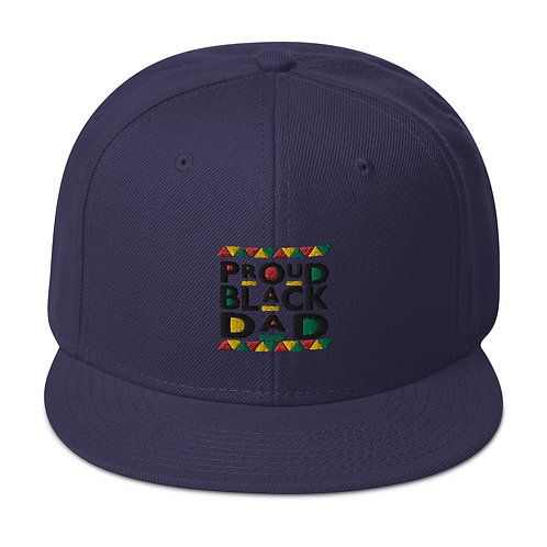Proud Black Dad Snapback Hat