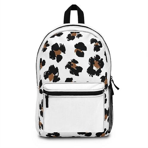 White Leopard Backpack
