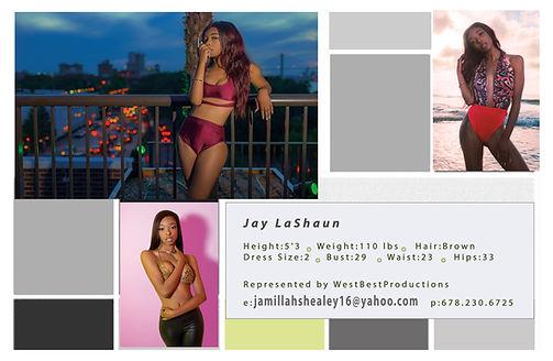 Jay LaShaun Model WestBestModel West Best Pros JayLaShaun Modeling Comp Card