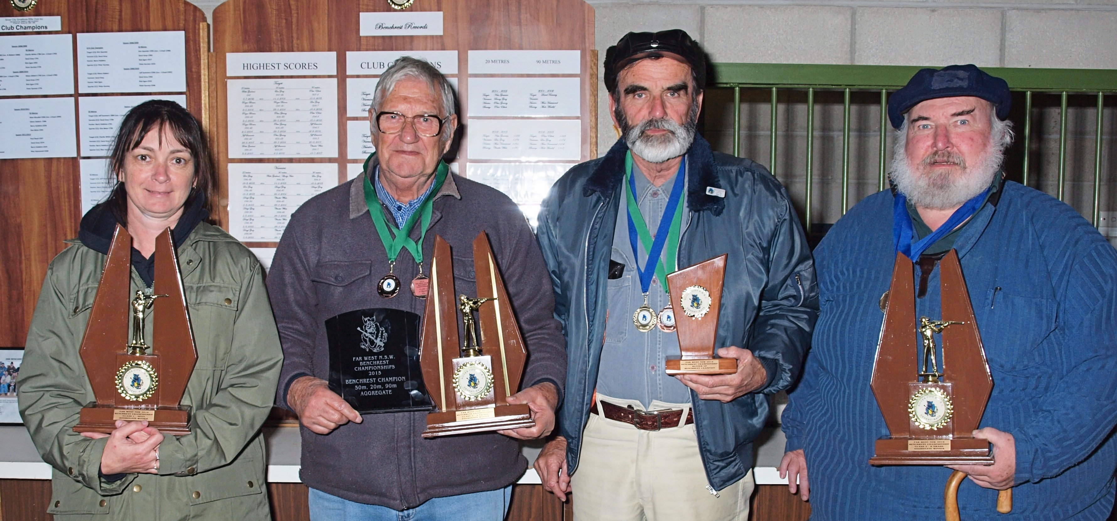 Silver City SBRC's Far West NSW Benchrest Championship winners Vanessa Tierney (