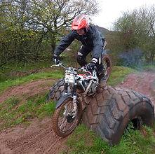 Trial Bike Wheelie
