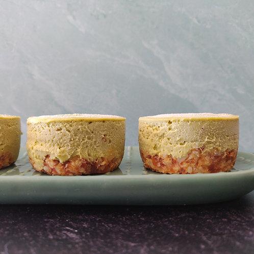 Matcha Mango Cheesecake