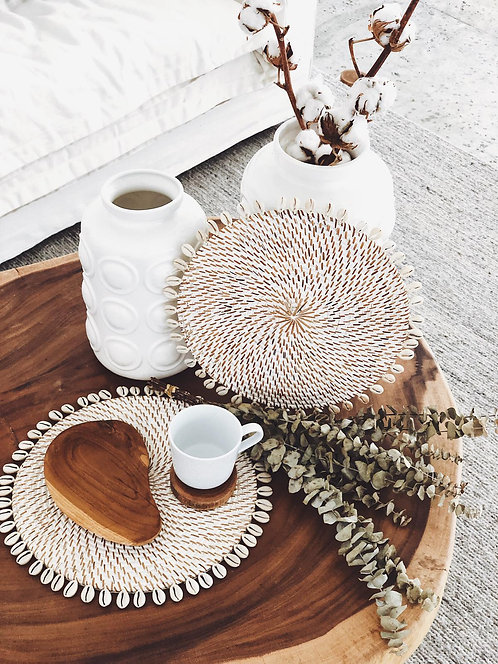 PLACEMAT PANDANUS WITH SHELL