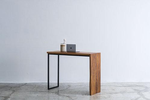 Live Edge Walnut Waterfall Bar Table