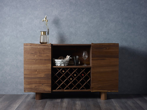 DENO Live Edge Walnut Wine Cabinet