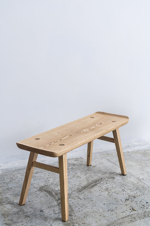 Ash Curved Edge Bench (L)