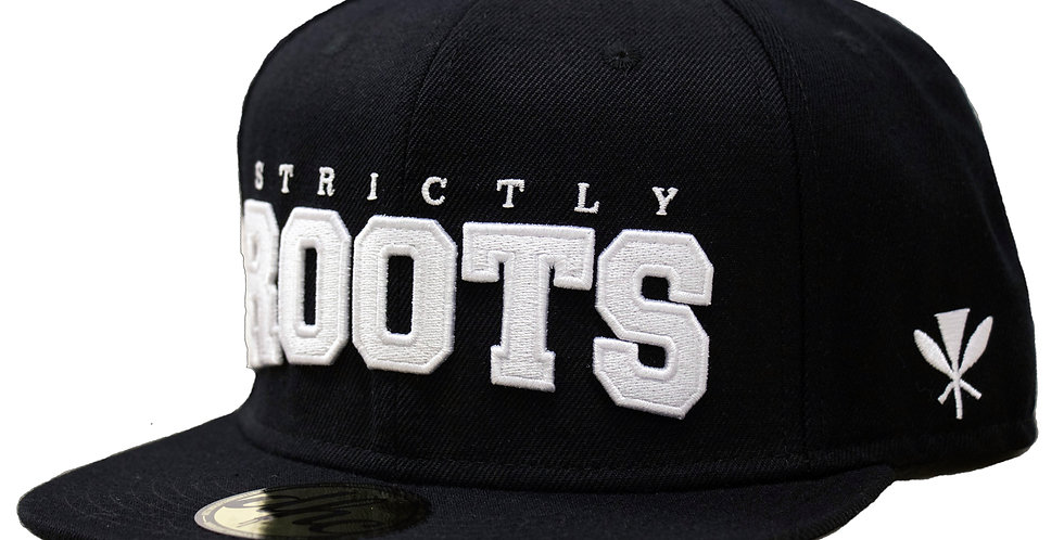 STRICTLY ROOTS SNAPBACK BLACK/WHITE